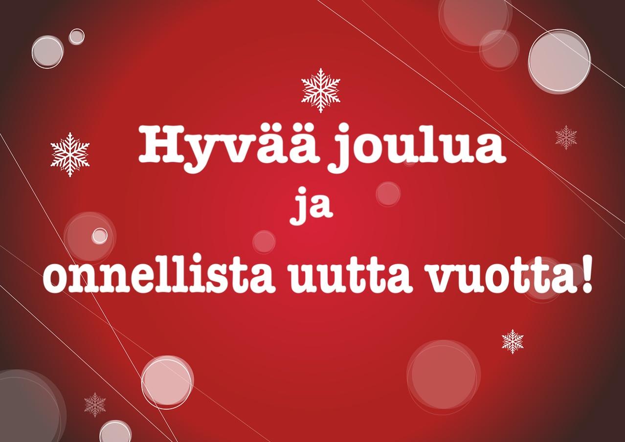 поздравление с рождеством на финском временем